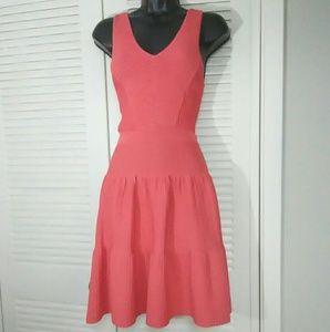 Sam Edelman xs peach fit n flare stretchy dress